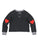 Girls Black Rainbow Heart Mineral Wash Cropped Pullover 2 Alternate View