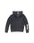 Girls Black TGIF Mineral Wash Fleece Side Lace Pullover 2 Alternate View