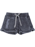 Girls Black Girls Burnout Fleece Short