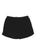 Girls Black Solid Fleece Varsity Short 2 Alternate View