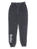 Girls Black Burnout Fleece Varsity Pant