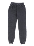 Girls Black Burnout Fleece Varsity Pant 2