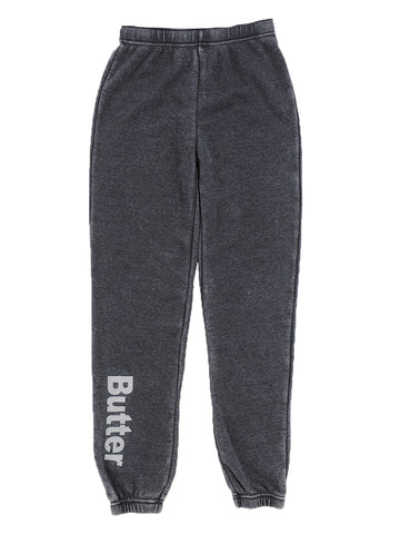 Burnout Fleece Varsity Pant - Black