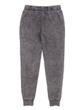 Girls Black Mineral Wash Fleece Jogger Pants 2
