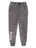 Girls Black Mineral Wash Fleece Jogger Pants