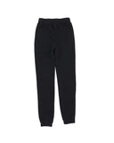 Girls Black Solid Fleece Varsity Pant 2