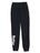 Girls Black Solid Fleece Varsity Pant