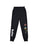 Girls Black Vacation Solid Fleece Skinny Jogger