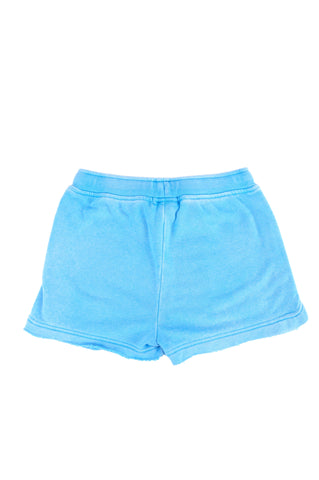 Girls Bright Aqua Girls Burnout Fleece Short