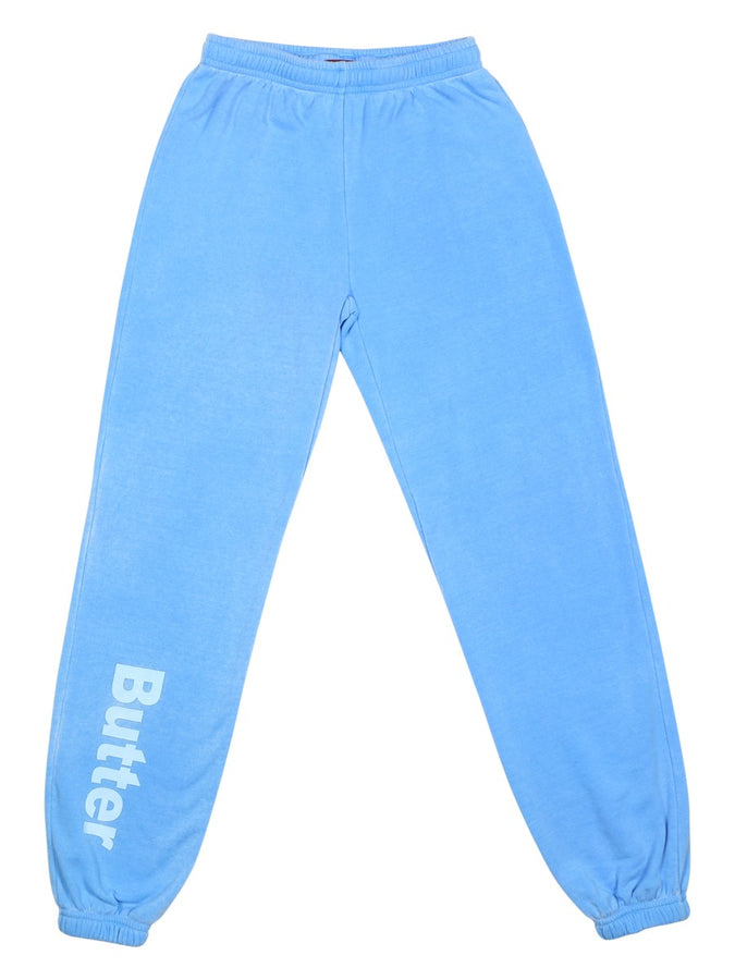 Girls Bright Blue Girls Burnout Fleece Varsity Pant