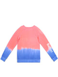 Girls Bright Coral Collage Dip Dye Malibu Raglan 2