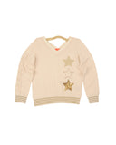 Girls Buttercream Star Trio V-Neck Pullover