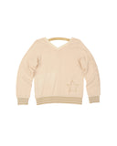 Girls Buttercream Star Trio V-Neck Pullover 2