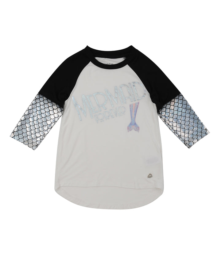 Girls Buttercream Mermaid Jersey Tee