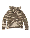 Girls Camo Camo Star Mineral Wash Fleece Pullover 2