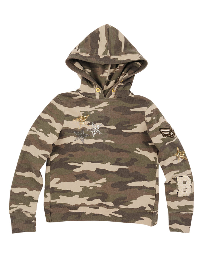 Girls Camo Camo Star Mineral Wash Fleece Pullover