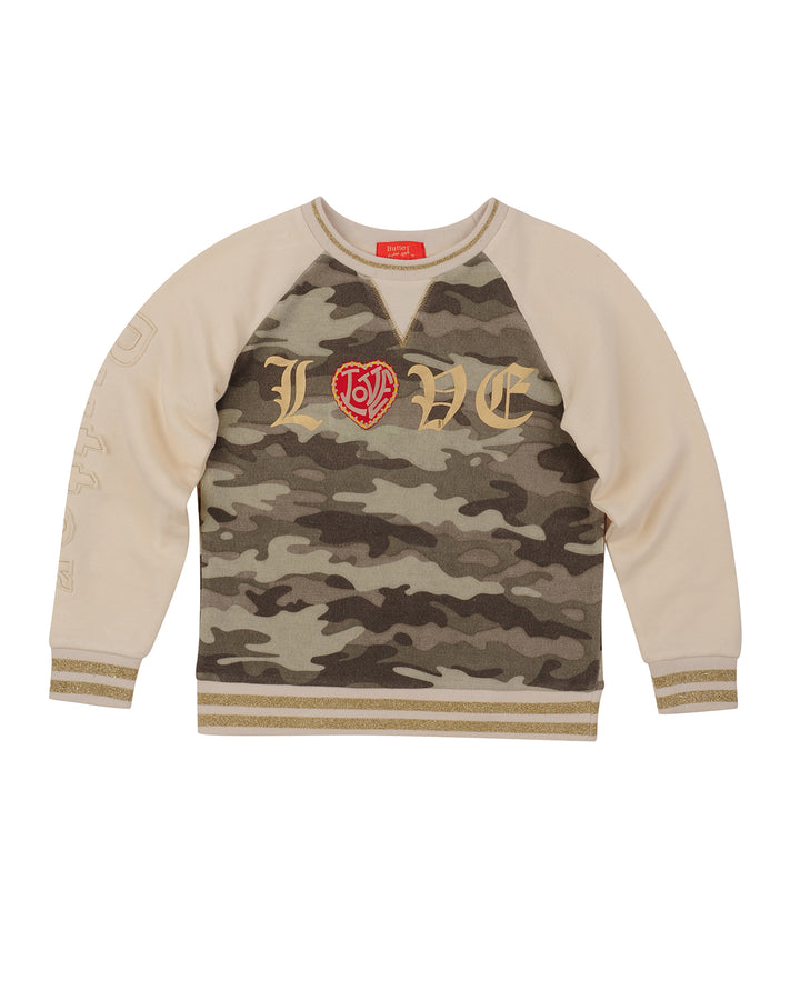 Girls Camo Love Camo Pullover