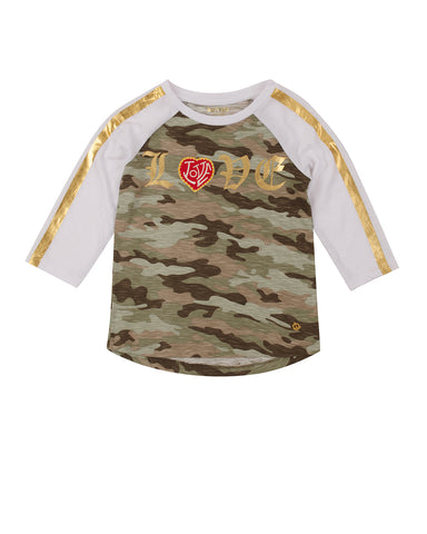 Girls Camo Love Camo Jersey Tee