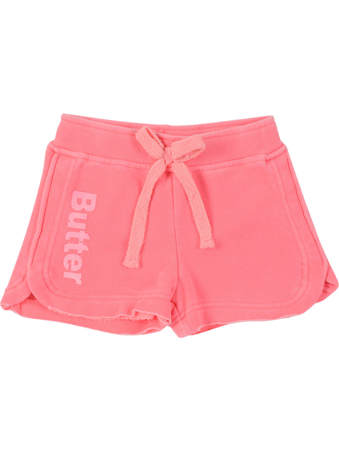 Girls Coral Girls Burnout Fleece Short