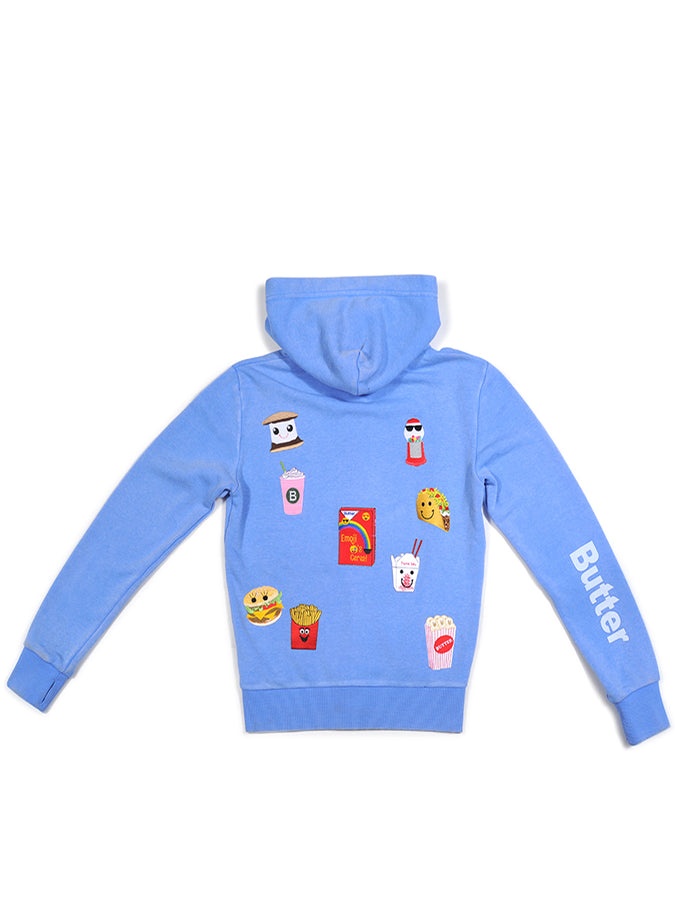 Girls Cornflower Foodie Patches Burnout Hoodie