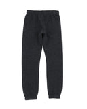 Girls Heather Charcoal Solid Fleece Varsity Pant 2