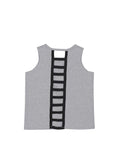 Girls Heather Charcoal Peace, Love, Rock Ladder Back Jersey Tank 2
