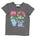 Girls Heather Charcoal Tropical Love Jersey Tee