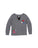 Girls Heathr Grey Fuzzy Patches Heathered Jersey Pullover