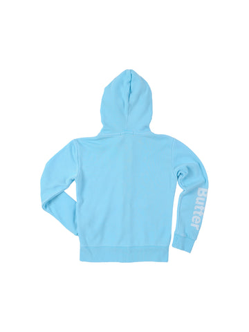 Girls Ice Mint Girls Solid Burnout Zip Hoodie 2 Alternate View