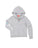 Girls Light Heather Grey Winter Emoji Burnout Fleece Zip Hoodie 2 Alternate View