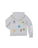 Girls Light Heather Grey Winter Emoji Burnout Fleece Zip Hoodie