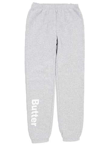 Girls Light Heather Grey Solid Fleece Varsity Pant