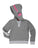 Girls Medium Heather Gray Dance Tape Burnout Fleece Pullover 2 Alternate View