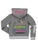 Girls Medium Heather Gray Dance Tape Burnout Fleece Pullover