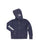 Girls Navy Embellished Mineral Wash Fleece Zip Hoodie 2 Alternate View