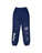 Girls Navy Mineral Wash Fleece Varsity Pant