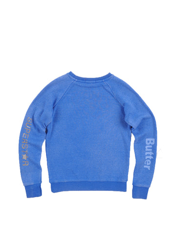 Girls Nebulas Blue Wing Sneakers Fleece Crewneck Pullover 2 Alternate View