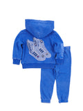 Girls Nebulas Blue Wing Sneakers Burnout Fleece Set