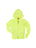 Girls Neon Yellow Solid Burnout Hoodie 2 Alternate View