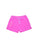 Girls Paradise Pink Burnout Fleece Varsity Short