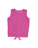 Girls Paradise Pink Mermaid Magic Tie Front Graphic Tank 2