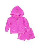 Girls Paradise Pink Pineapple Fleece Zip Hoodie Set 2
