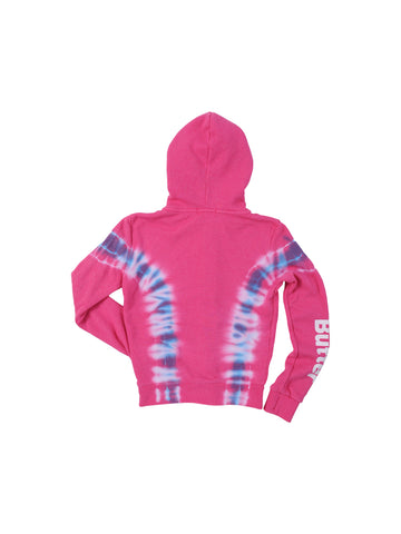 Girls Pink/Blue Girls Solid Hendrix Wash Fleece Zip Hoodie