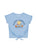Girls Placid Blue Happy Camper Tie Front Graphic Tee