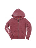 Girls Pomegranite Collage Burnout Fleece Zip Hoodie 2