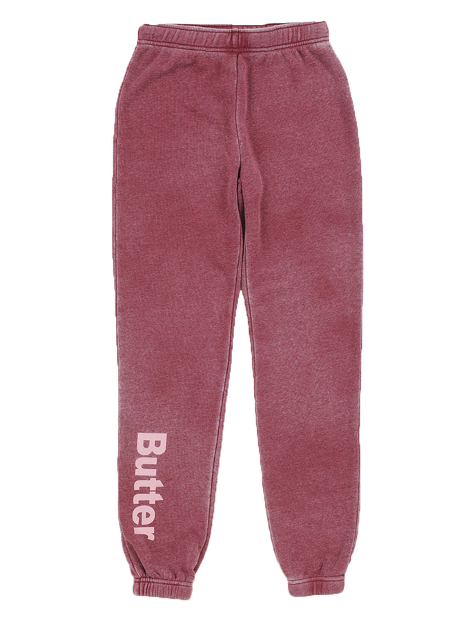 Girls Pomegranite Burnout Fleece Varsity Pant