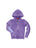 Girls Purple Solid Burnout Hoodie 2 Alternate View