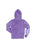 Girls Purple Solid Burnout Hoodie