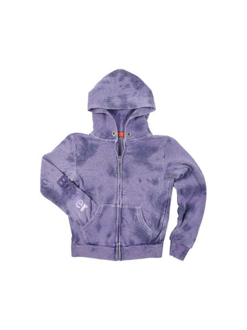Girls Purple Solid Supernova Hoodie 2 Alternate View