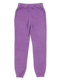 Girls Sparkling grape Burnout Fleece Varsity Pant 2